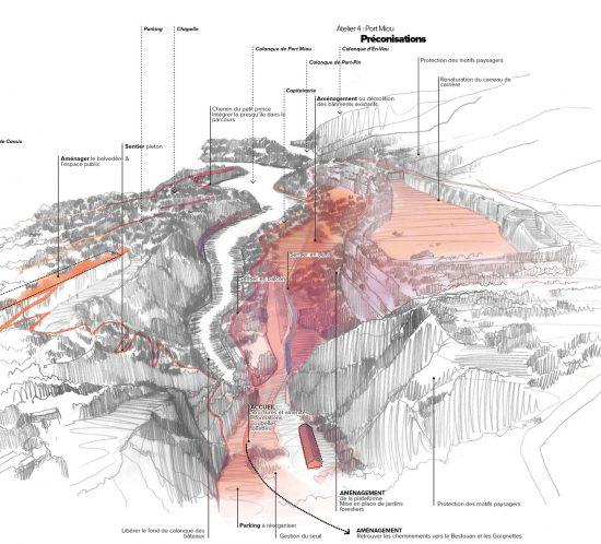 Plan de paysage des Calanques